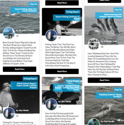 Tarpon Fishing Tips & Reports